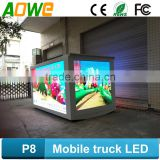 Big size p8 mobile truck led tv screen commercial advertising led display/screen for                                                                                                         Supplier's Choice