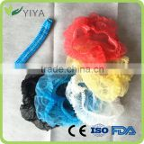 2016 High Quality PP Nonwoven Disposable Surgical Caps Colorful Double Elastic disposable bouffant