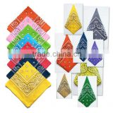 Promotional fashion design custom promotional printed square bandana/ cotton bandana/pet bandana