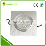 Epistar chip 100lm/w 3w 5w 7w 9w 12w SMD LED recessed downlight ce rohs square led downlights 3w