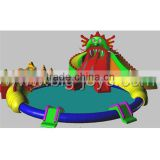New design giant Dragon Slide inflatable water park / lake floating water games / commercial aqua park
