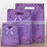 hot selling beautiful creative purple Gift paper Packaging Bag with handlle for gift with good price