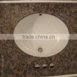 LOW PRICE!Wholesale Baltic Brown Bathroom Vanity Top With Single/Double Under Mount Sink In Stock