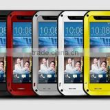 love mei aluminum waterproof case for HTC 820, for HTC 820 LOVE MEI Case Metal Gorilla Glass Cover