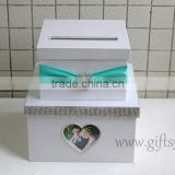 The money box with heart shape photo frame in handmade