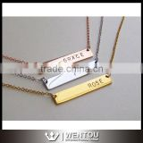 Initial Bar Personalized Name Necklace