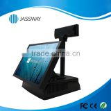 single-screen full-flat all-in-one Touch POS machine, 15'' hot sale touch pos machine, POS manufacturer