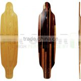 wholesale blank electric maple with fiberglass longboard deck