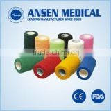 High elastic cotton material self adhesive cohesive bandage with high quality