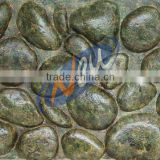 PU cobble stone panel,river stone,pebble,decorative stone for wall,3D foam insulated wall panel