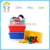 Wholesale environmental non-toxic stocked many colors pp material plastic storage tool box