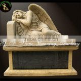 Memorial marble carving tombstone