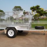 Inflatable boat trailer use transom launching wheels