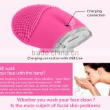 Waterproof Silicone Electric Facial Cleansing Brush Ultrasonic Face Cleaner Sonic Skin Cleaning Ultrasound Massage Beauty Care