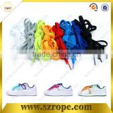 Rainbow rubber shoelace