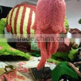 life size large top party artificial landscape uv resin plastic animal leaf alphabet letter octopus statue E08 23A5