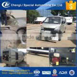 CLW China good price high pressure pump mobile cleaning truck equipped with manual spraying gun and wheel type cleaning push car