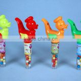 Plastic animal candy-whistle candy space toys