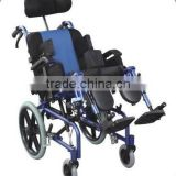 RehabiAluminum chair frame high back reclining wheelchair for cerebral palsy children/ cp chair/electric power /folding/economic
