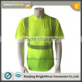 Mens high quality generic segmented tape fluorescent t-shirt