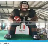 giant nfl inflatable player lawn figure, high standing nfl inflatable bubba player for advertising