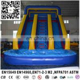 China best quality cheap blue inflatable bouncer with water slide pool for kids play or rental