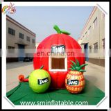 Promotion inflatable fruit kiosk, inflatable fruit theme booth, outdoor retail booth for exhibition