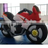 Inflatable character shape, motorbike