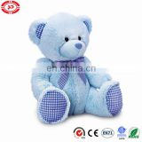 Blue fancy baby first gift toy cute plush teddy bear
