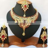 INDIAN DESIGNER BOLLYWOOD INSPIRED JEWELRY NECKLACE EARRINGS SET