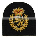 Bullion Thread Embroidery Badge, embroidery patch, embroidery emblem