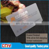 Best Price Transparent Unique Business Card Manufacturer