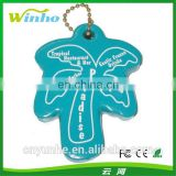Large Palm Tree Shaped Floating Keychain