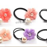 Popular Wholesale girls flower elastic rubber band