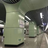 Aluminum Tube Ceiling for Metro station/Aluminum Baffle Ceiling/Building Materials Aluminum Square Tubular Ceiling