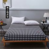 100% Cotton Fitted Sheet Soft Simple Stripes Grid Bed Sheet bedspread