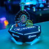 Hexagon One Bottle Champagne Bottle Glorifier LED bottle display for nightclub