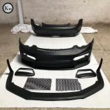 KM for 2009-2012 cayman boxster 987.2 upgrade GT4 front bumper body kit rear bumper facelift FRP material