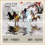 TV background wall tile background art ceramic tile mural backdrop interior wall tiles 8 pcs horse photo
