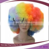 hot sale rainbow color synthetic big afro cheap party wigs