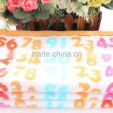 Towel manufactory pure cotton yarn-dyed jacquard lovely digital pattern kids hand towel / face towel