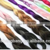dip dyed three tone color kanekalon fiber X-Pression braids kanekalon yaki braiding