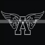 Hot fix crystal rhinestone motif, angel wings rhinestone transfer iron on transfer                                                                                                         Supplier's Choice