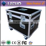 "alibaba china supplier 4"" Castors fitted aluminum road case equipment case flight case"