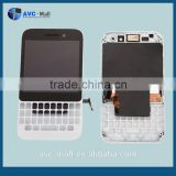 alibaba china touch screen lcd assembly with frame for Blackberry Smartphone Q5 white