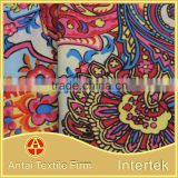 Coloful printed fabric for women fancy dress/printing microfiber for dresses for women elegant