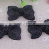 Halloween shiny loose resin rhinestones bow beads! wholesale resin bow shaped beads for kids necklace jewelry!