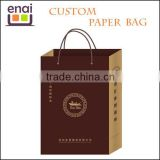 Pantone color printing kraft paper bag with handle for wine