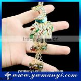 Unique Ethnic Style Peacock Luxury Keychain Key Chain & Key Ring Holder Keyring Gift Souvenirs Key Chain Bag/Car Pendant K0133