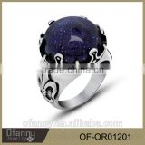 Fashion blue gemstone ring 925 sterling silver jewelry ring wholesale jewelry fashion rings                                                                                                         Supplier's Choice